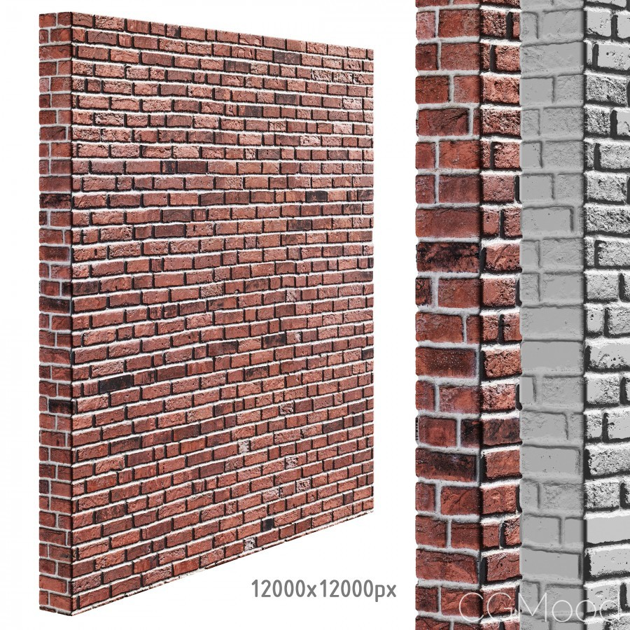 Red Brick Wall Seamless Texture 3d Model For Vray Corona