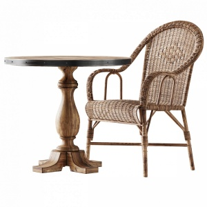 Kokmaison Fauteuil Grand Pere Wicker Chair