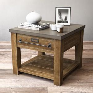 ZINC-TOP MERCANTILE SIDE TABLE
