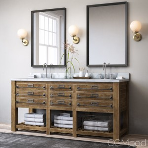 Mercantile Double Vanity Sink