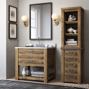 Mercantile Single Washstand And Mercantile Medium