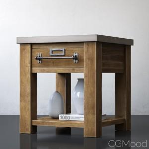 Zinc-top Mercantile Side Table 22sq