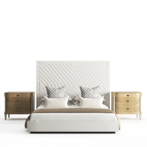 Bed By Alter London And Bed Side Table By Caracole