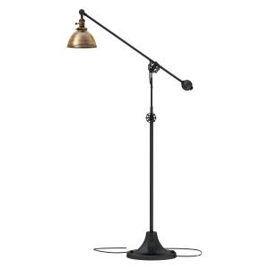 Industrial Era Task Floor Lamp Antique Brass