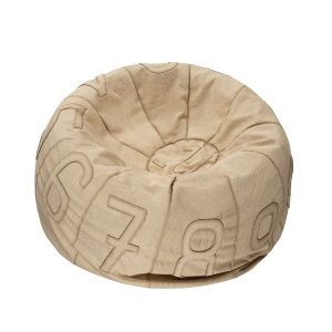 Recycled Canvas Number Bean Bag