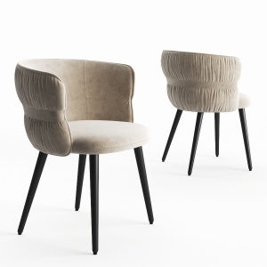 Potocco Coulisse Armchair From Beige Suede