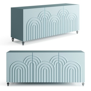 Drawer Arches 3 Door Credenza
