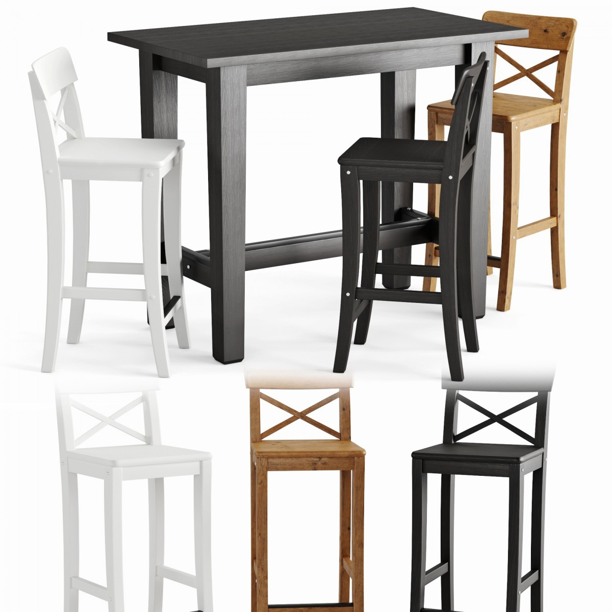 Bar Table And Chair Stornas Ingolf - 9D Model for VRay, Corona