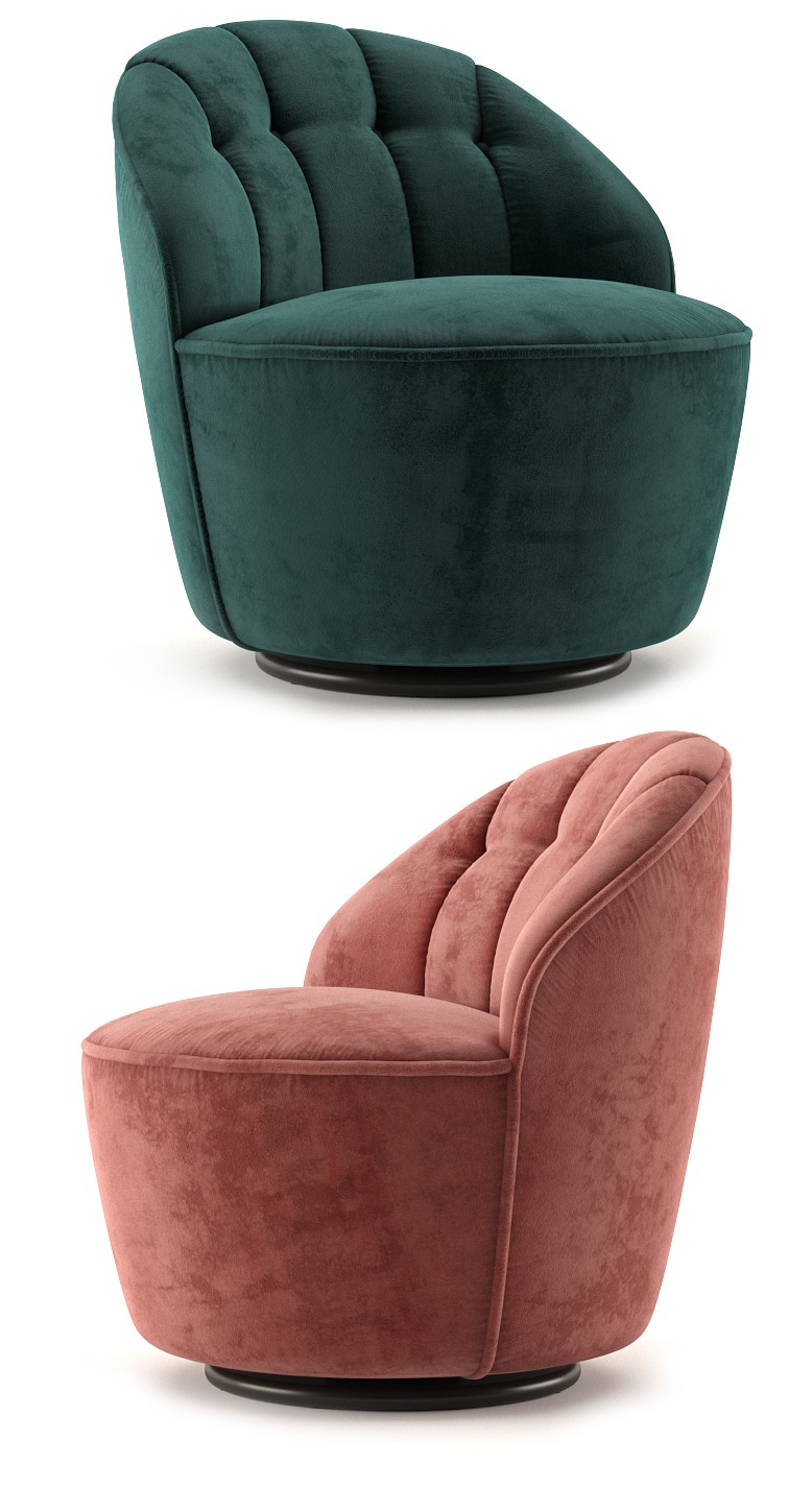 Astonishing Margot Swivel Accent Chair 3D Model For Vray Caraccident5 Cool Chair Designs And Ideas Caraccident5Info