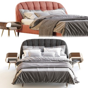 Margot  Bed, Velvet