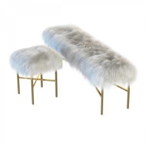 Mongolian Lamb Chair And Bench