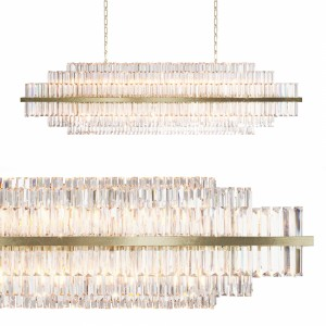 Vienna 52 Linear Crystal Chandelier