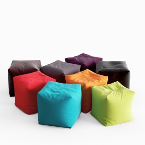 Pouf Coussin Jumbo Bag Cube Collection