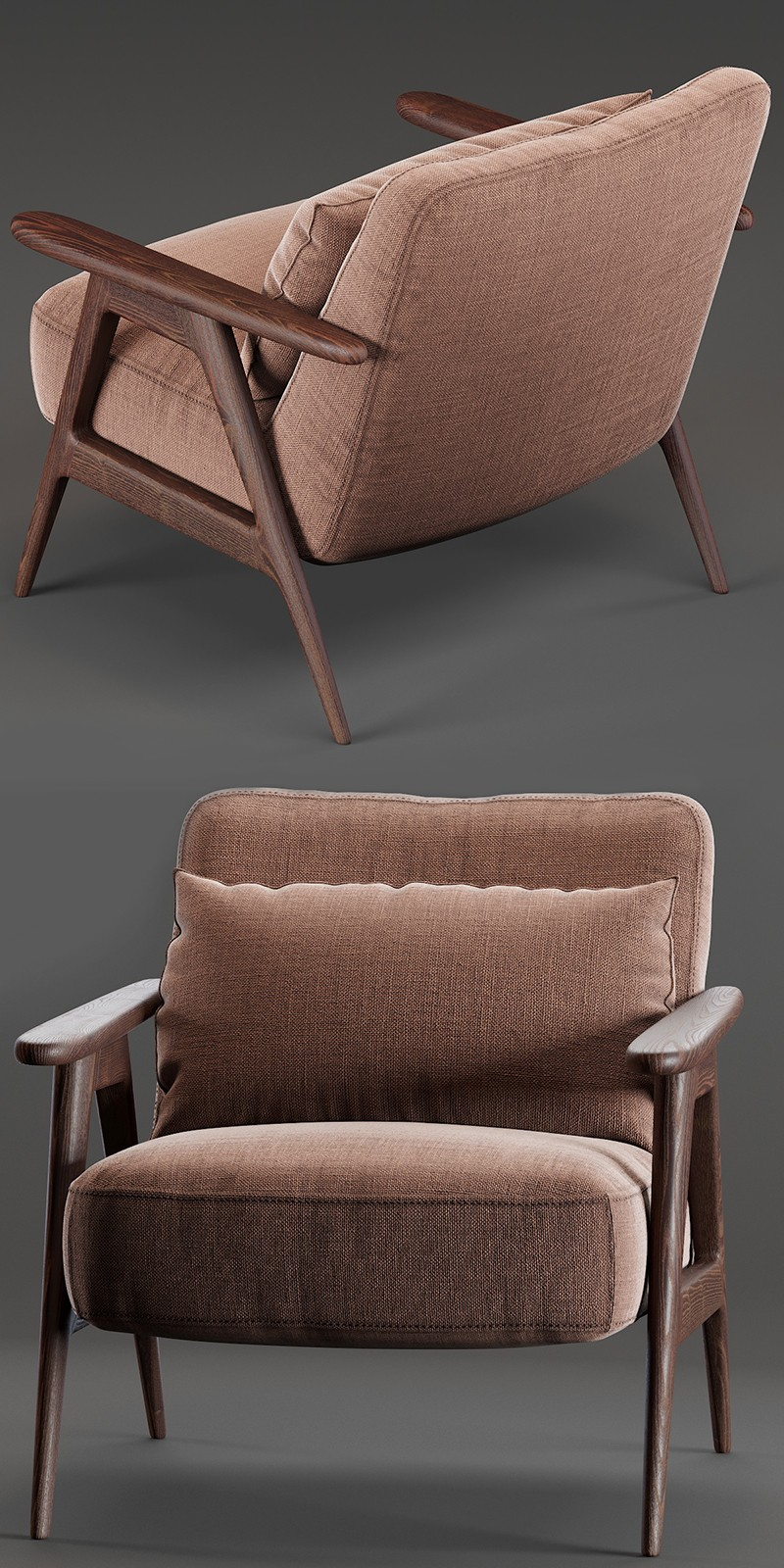 John Lewis Amp Partners Hendricks Accent Chair 3d Model