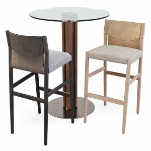 Porada: Table - Quadrifoglio And Stools - Sveva