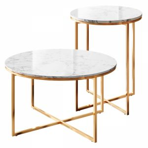 Marble Table Gold Set