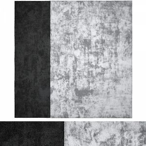 Grey Black Wool Rug
