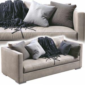 Meridiani Leather Sofa Belmon