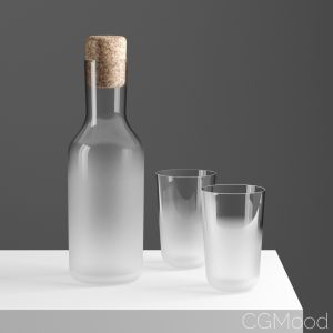 Frost Glass And Carafe By Front For Stelton