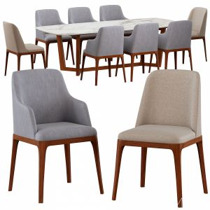 Galicia armchair & Concorde Table Poliform