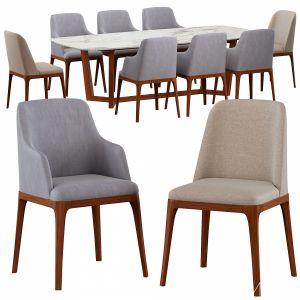 Galicia armchair & Concorde Table Poliform