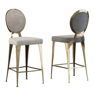 Miss Stool With Uncovered Backrest