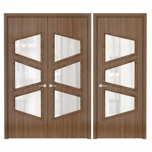 Modern Entrance Doors Set 106