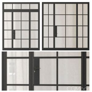 Modern Entrance Doors Set 120