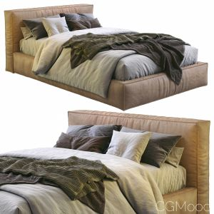 Flexteam Leather Bed Slim One