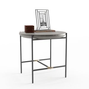 West Elm Finian Concrete & Iron End Table