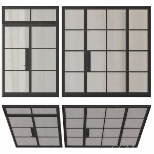 Modern Entrance Doors Set 123