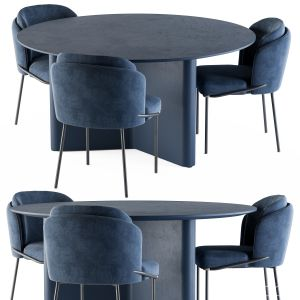 Dining - round Lou Table Blue Set