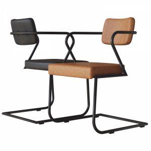 Gaff Metal Frame Chair Cb2