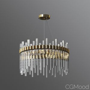 Orion Glass Crystal Chandelier Cb2