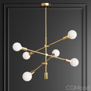 3d models: Chandelier Eladia Opaque Glass 6 Light Chandelier