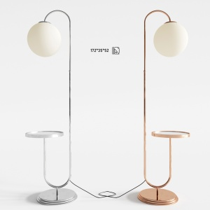 Bauhaus Chromed Floor Lamp