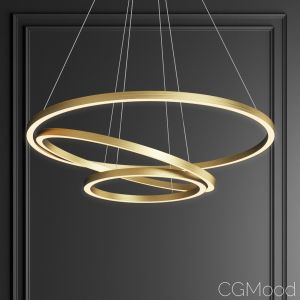 Capella Black&gold 3 Ring Chandelier