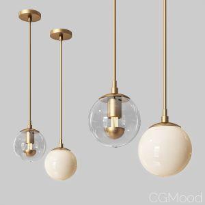 Modo Mono Pendant Brass & Clear Glass