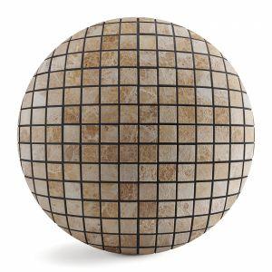 Travertine Mosaic 8k Pbr Seamless
