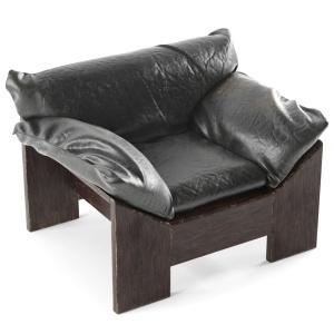 Leolux Dutch Oak Leather Chair 1970s