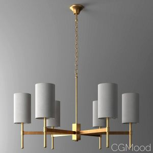 Gold Stem Chandelier