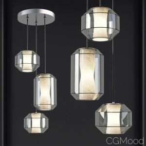 Chamber Large Chandelier 3 Piece - Leebroom