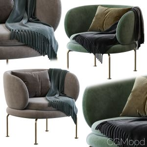 La Cividina Soave Armchair With Armrests