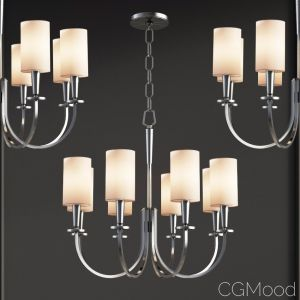 Mason 27 Inch Polished Nickle Chandelier By Hudson
