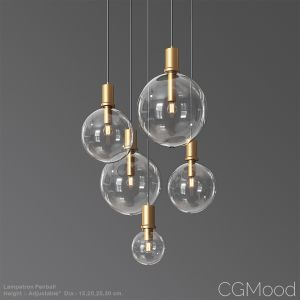 Lampatron Penball Minimalist Lamp-suspension Glass