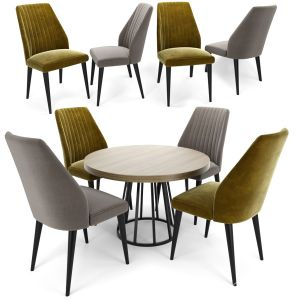 Vaz Dining Chair With Round Table