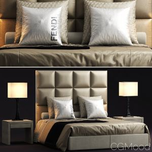 Fendi Casa Diamante Bed