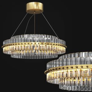 Round Glass Chandelier Modern Style Living Room Li