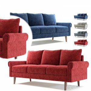 Elva Flared Arm Sofa