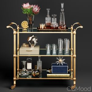 Williams Sonoma Beckett Bar Cart